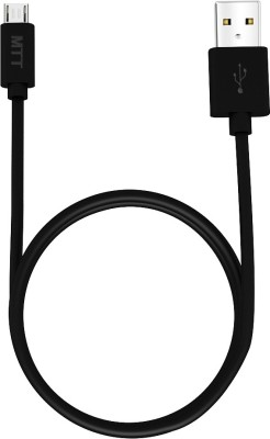 MTT 1.2 Meter Fast Charging Soft Grip USB Cable(Black)