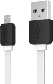 Gizga Essentials Tangle-Free (1 meter/ 3.2 Feet) Fast Charging USB Cable(White)