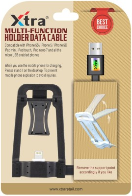 Xtra Multi-Function Holder Micro High Speed USB 2.1 Data Transmit Cable for iPhone Devices USB Cable