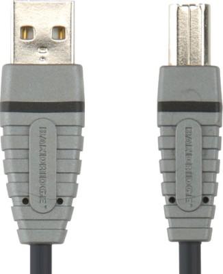 Bandridge BCL4102 Blue USB A-B Device Cable USB-A M - USB-B M 2 m USB Cable