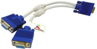 Redeemer Y SPLITTER VGA Cable(White, Blue)