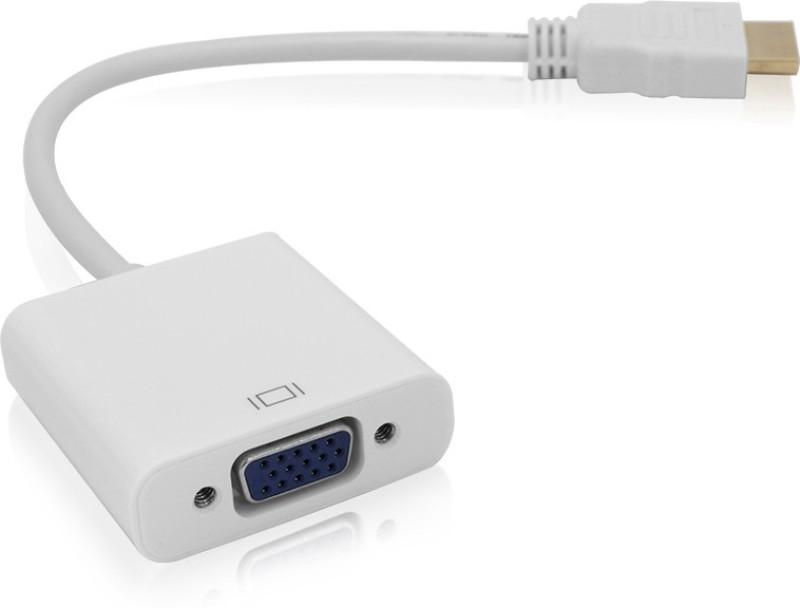 Generix Ultra HDMI Male 2 VGA Female High Defination HDMI Cable(White)