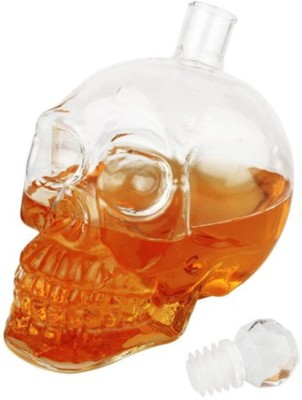 Cool Trends Skull Vodka, Whiskey, Rum, Brandy, Juice, Milk, Water Decanter(Glass, 18.6 oz)