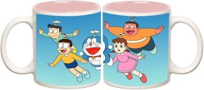 Data Express - Doraemon Pink Inner Mug Off White Ceramic - 325