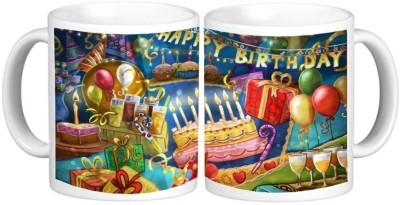 Birthday Ceramic Mug Multicolour Ceramic Mug - 325 ml