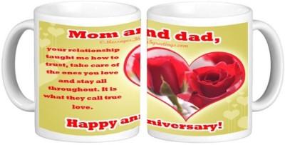 Anniversary Ceramic Mug Multicolour Ceramic Mug - 325 ml