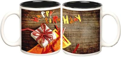 Happy Birthday Inner Black Mug multi colour ceramic - 325 ml