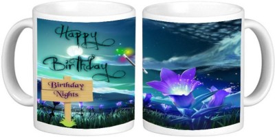 Happy Birthday Gift Mug Multicolour Ceramic Coffee Mug - 325 ml