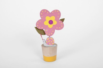 The Wishing Chair Pink and Yellow Woodland Creatures Flower (set of 2) - 2