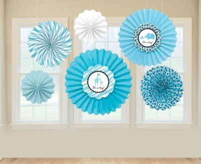 Amscan Multicolor Paper Fan Decoration - 1
