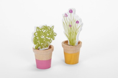 The Wishing Chair Pink and Yellow Woodland Creatures Herb Garden Set of 2 - 2