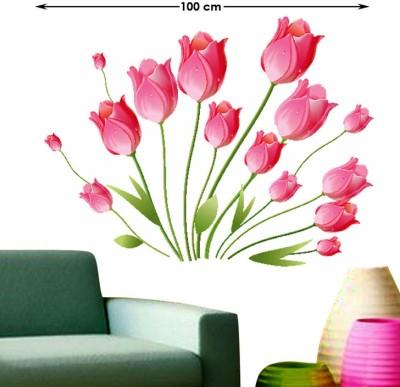Happy walls Multicolor Pink Tulips Bouquet - 200