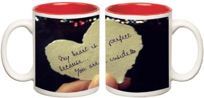 Happy Anniversary Red Inner Colour Mugs multi colour mug - 325 ml