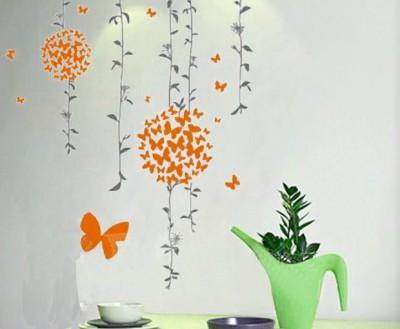 Happy walls Orange Wall Sticker - 299