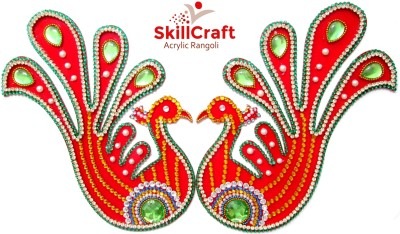Skillcraft Red, Multicolor Acrylic Rangoli - 2