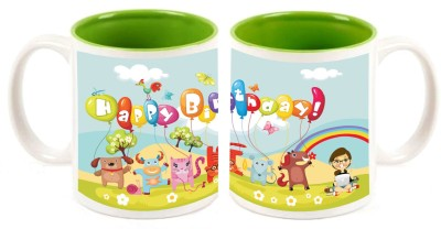 Happy Birthday Green Inner Colour Mug multi colour ceramic - 325 ml