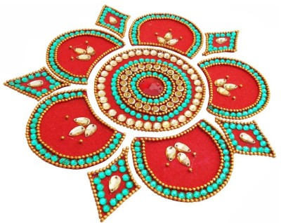 Susajjit Multi Colour Decorative Kundan Rangoli - 1