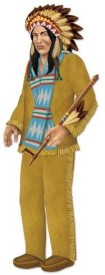Beistle Multicolor Chief Jointed Figure - 136 g