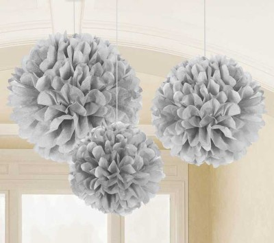 Amscan Grey Fluffy Decoration - 3