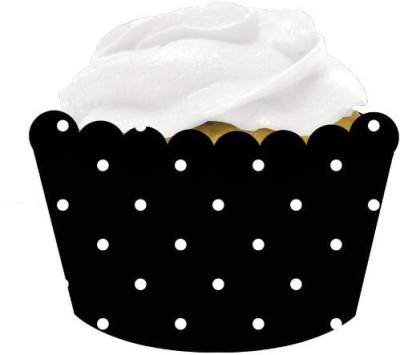 Creative Converting Black, White Cup Wrappers - 8 g