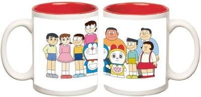 Doraemon Inner Red Mug multi colour ceramic - 325 ml