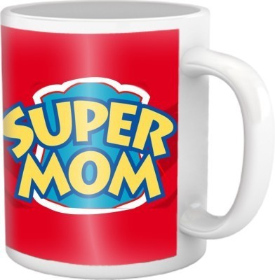 Super Mom Coffee Mug Multicolour Ceramic Mug - 325 ml