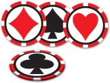 Beistle Casino Coasters Multicolor Decor...