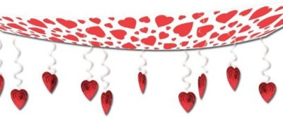 Beistle Red Hearts Ceiling Decor Party Accessory - 226 g