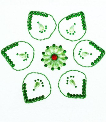 Susajjit Green Decorative Kundan Rangoli - 1