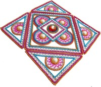 Susajjit Multicolor Kundan Decorative Rangoli - 5