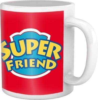 Super Friend Coffee Mug Multicolour Ceramic Mug - 325 ml