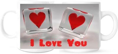 Creation Heart Love Quote Gift Coffee Mug Coffee Mug Multicolour Ceramic Mug - 325 ml
