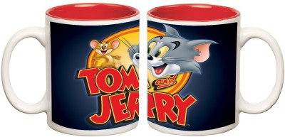 Tom and Jeery Inner Red Mug multi colour ceramic - 325 ml
