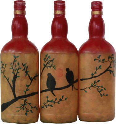 The Ethnic Story TESSO3PGBOT Decorative Bottle(Pack of 3)