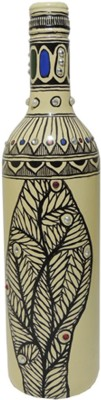 MADHUBANI ARTS AND CRAFTS MAAC01 Decorative Bottle(Pack of 1)