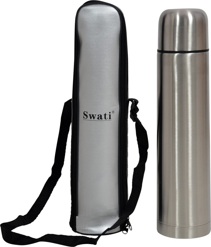 SWATI Vacuum Flask Bottle Steel 500 ml Bottle Tongs(Silver)