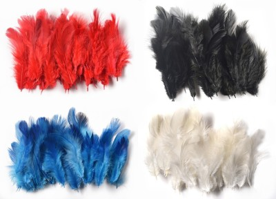 Rooh Wellness Pack of 160 Decorative Feathers(2.5cm Synthetic Material)