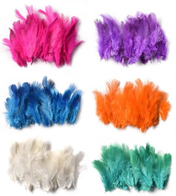 Rooh Wellness Pack of 240 Decorative Feathers(2.5cm Synthetic Material)