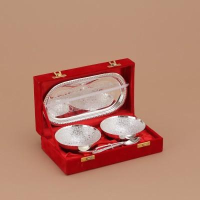 Being Nawab Luxurious Silver(German) Brass Decorative Platter