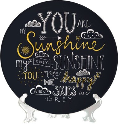 Giftsmate You are My Sunshine Ceramic Decorative Platter