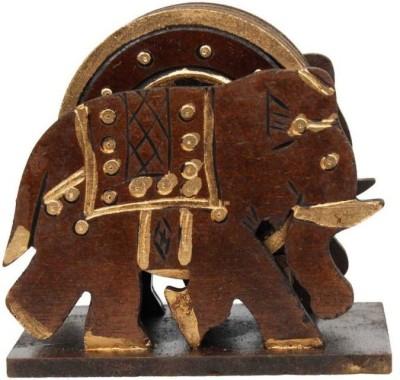 Gaura Art & Crafts Wooden Decorative Platter(Multicolor, Pack of 7)