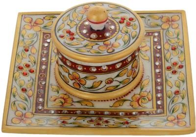 Gaura Art & Crafts Stoneware Decorative Platter(Multicolor, Pack of 2)