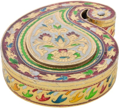 arsh plast ind Decorative rajawadi gift box/dry fruit box(size : 22*15*4) Carbon Steel Decorative Platter