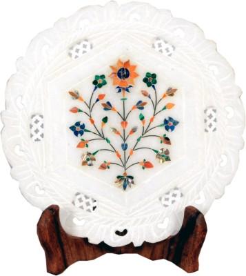 Avinash Handicrafts Alabaster Inlaid Plate 7