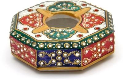 Gaura Art & Crafts Stoneware Decorative Platter(Multicolor)