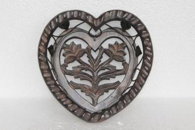 Prachin Art Gallary Wooden, Iron Decorative Platter