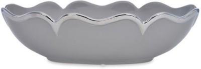 @home Ceramic Decorative Platter(Grey)