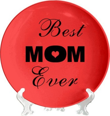 Giftsmate Hearts Best Mom Ever Ceramic Decorative Platter