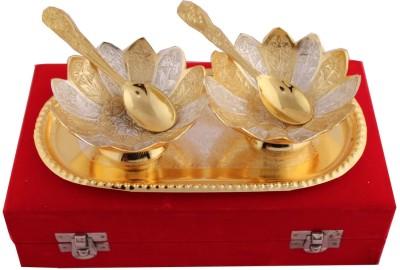 RajLaxmi Bowl Spoon Plate Ladle Serving Set(Pack of 5)