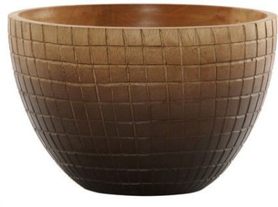 @home Wooden Decorative Platter(Brown)